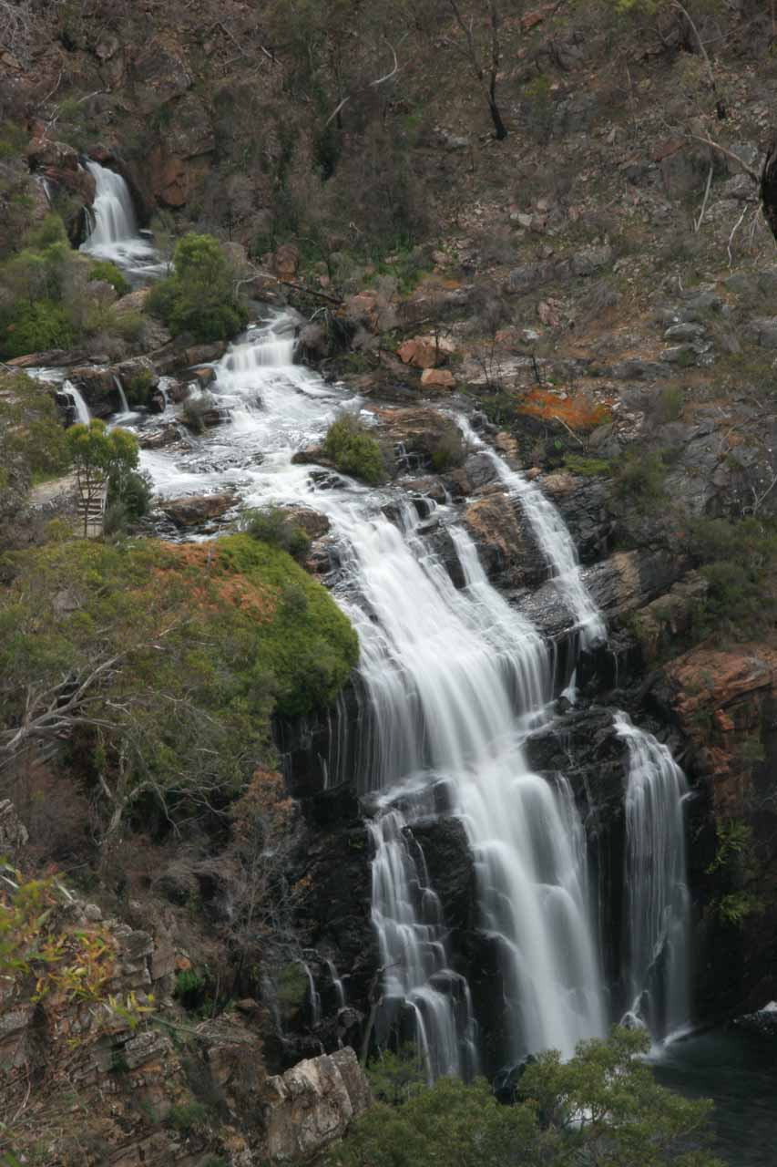 About 30 minutes drive from Silverband Falls via Halls Gap (would be shorter if the direct access on Silverband Rd wasn't closed at the time) was the impressive MacKenzie Falls