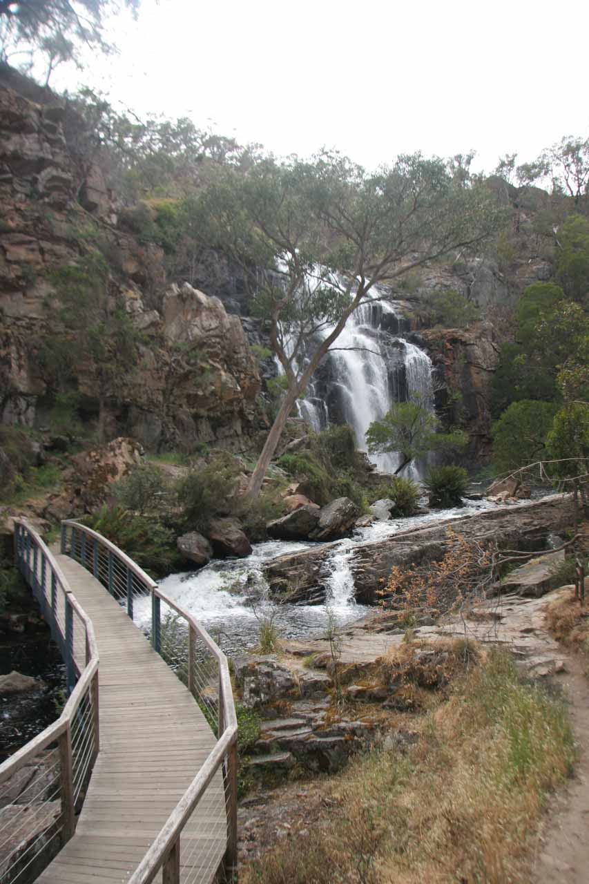 View of MacKenzie Falls from a footbridge further downstream