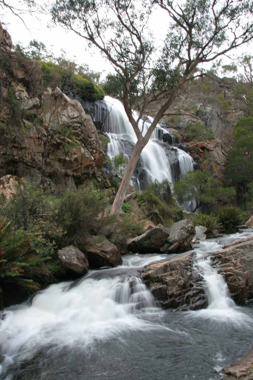 Looking back at MacKenzie Falls after going a little further downstream for an unusual view