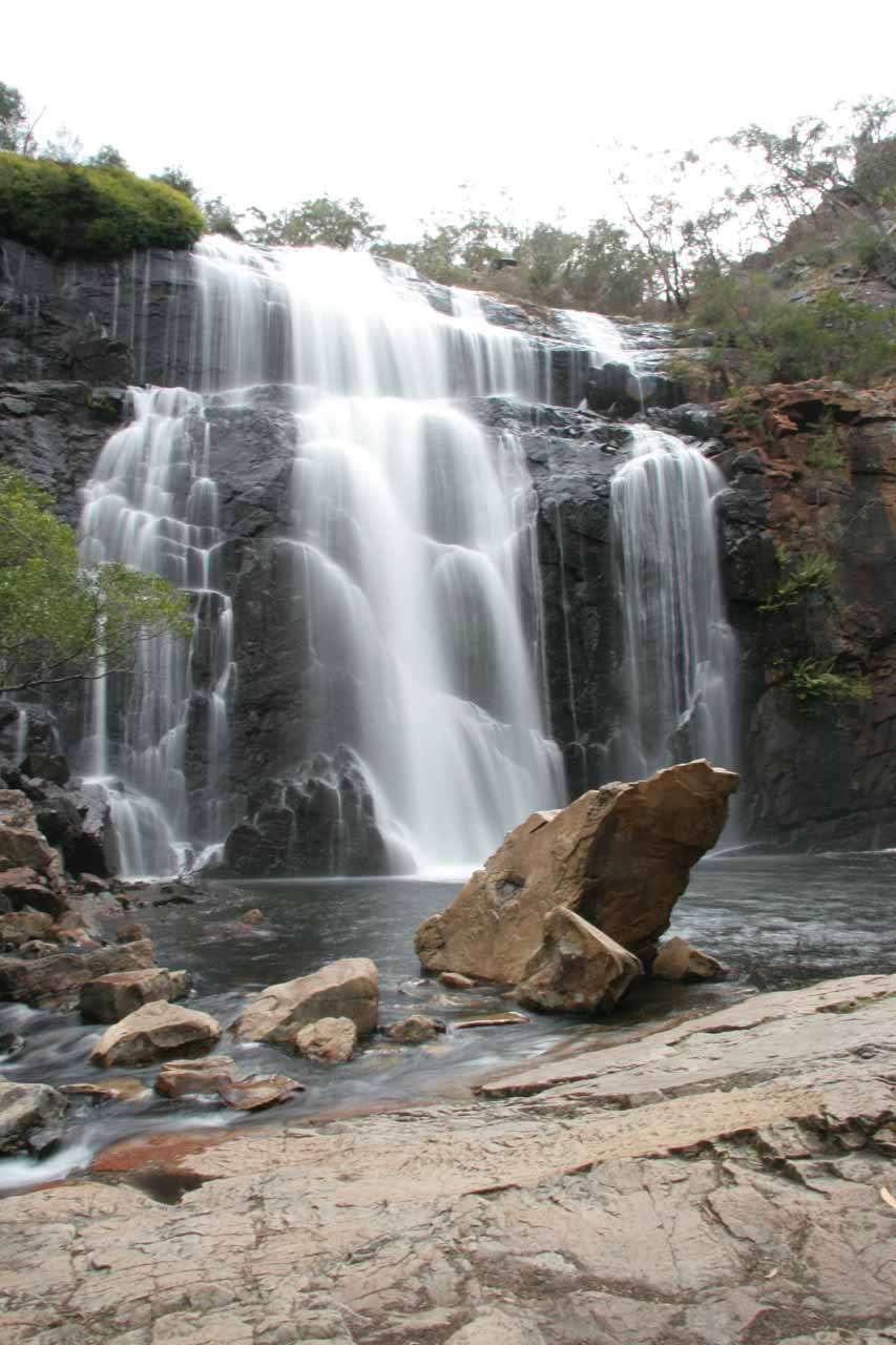 This was what MacKenzie Falls looked like back in November 2006, which was under drought conditions. So imagine our surprise when it appeared to have similar flow to our more recent trip that wasn't as adversely affected by drought