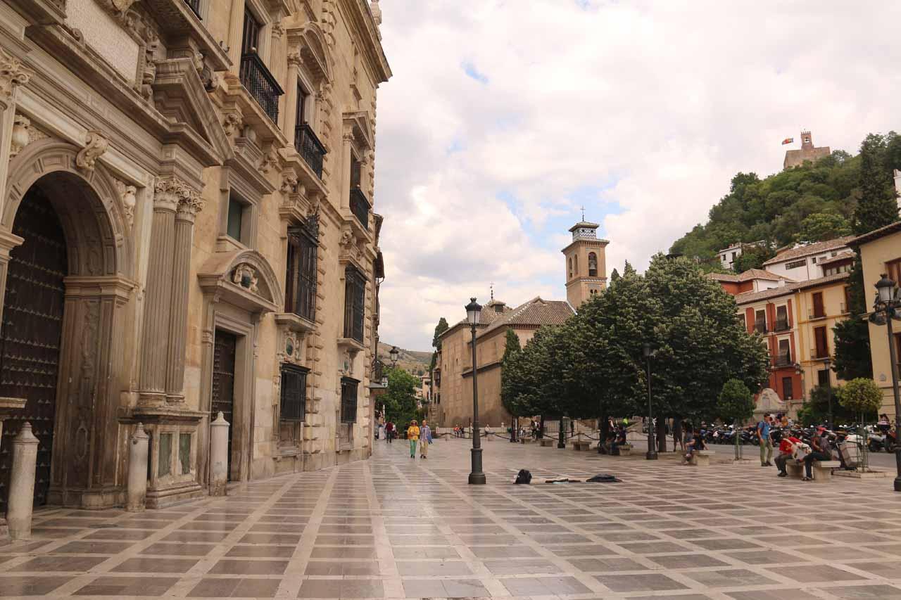 At the Plaza Nuevo in Granada
