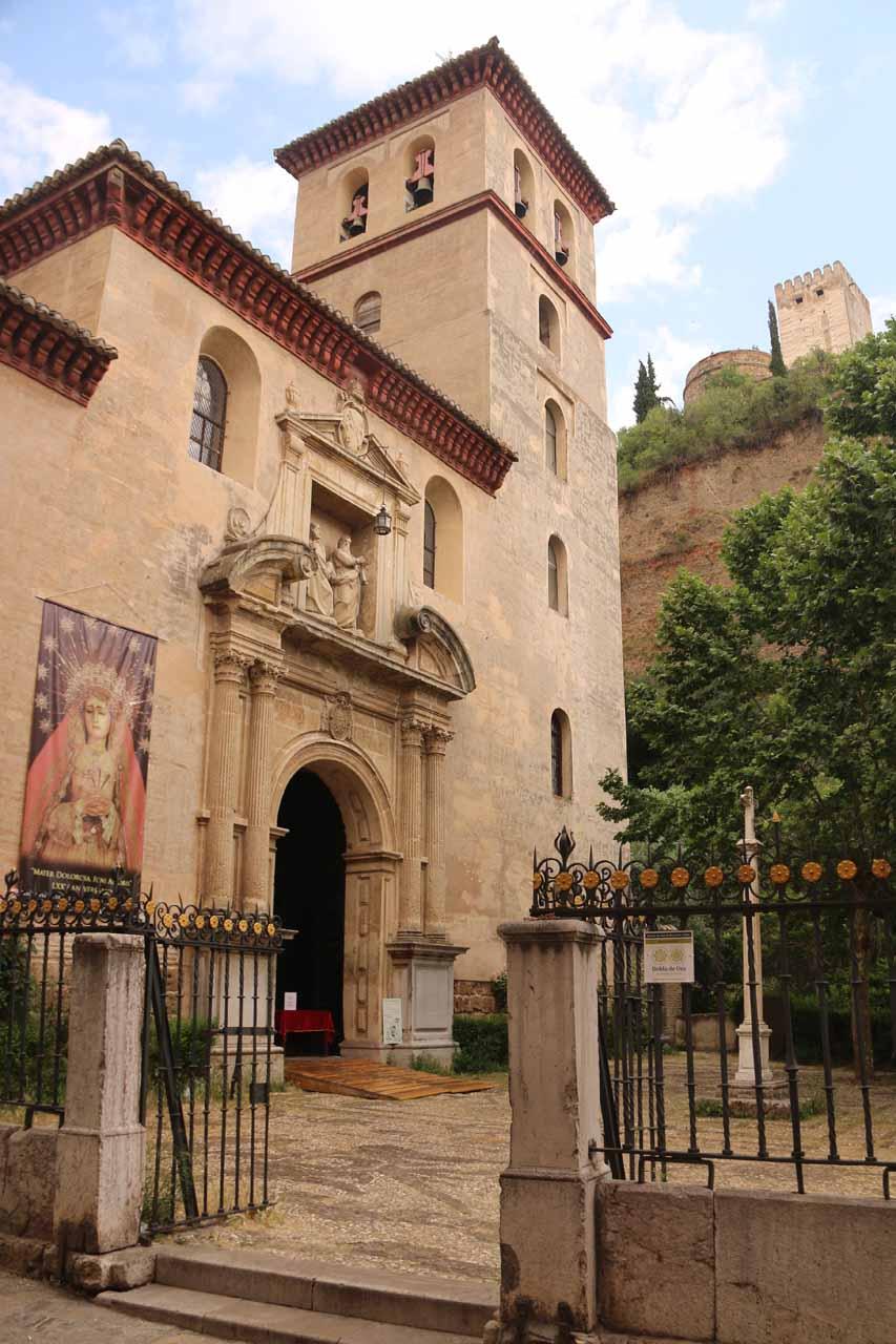 Closer look at the Iglesia de Santa Ana