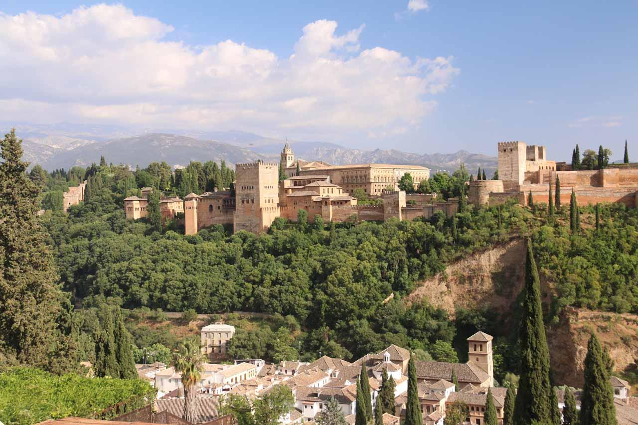 Looking towards the Alhambra from the Mirador de San Nicolas