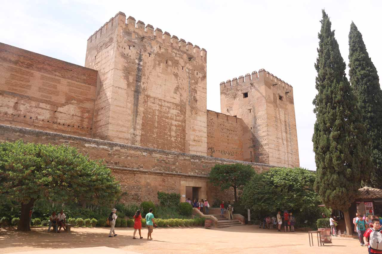 Approaching the Alcazaba in Alhambra