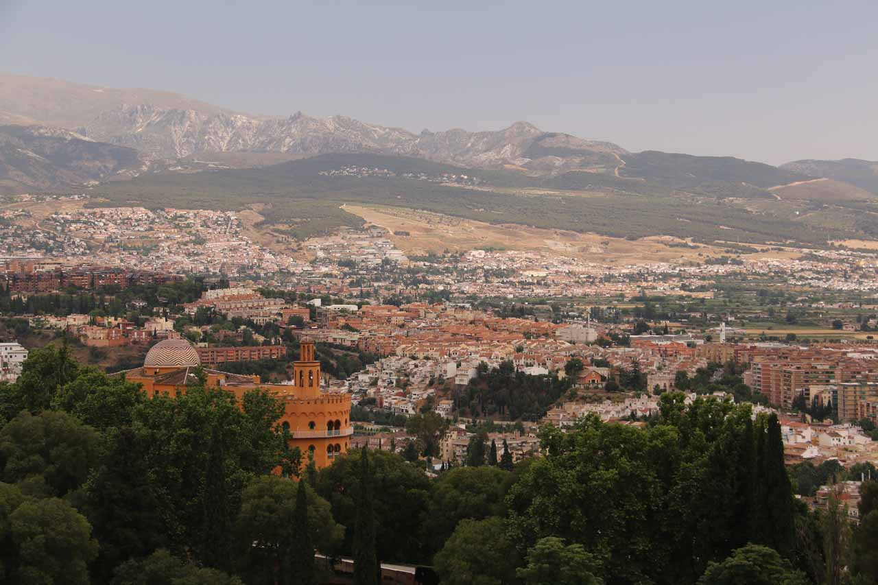 Looking towards the Sierra Nevada Mountains towards the eastern side of the city of Granada
