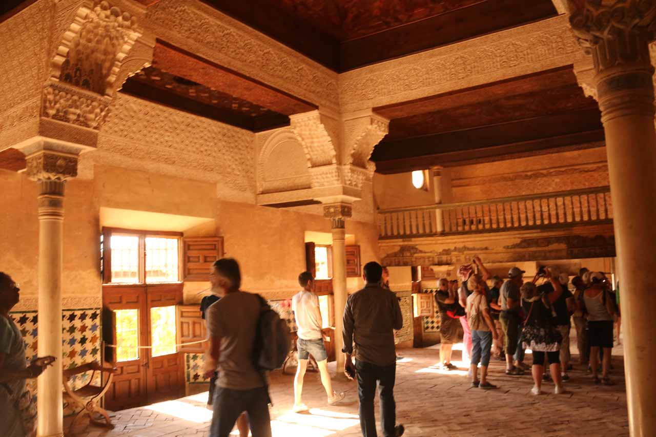In one of the first rooms within the Palacios Nazaries