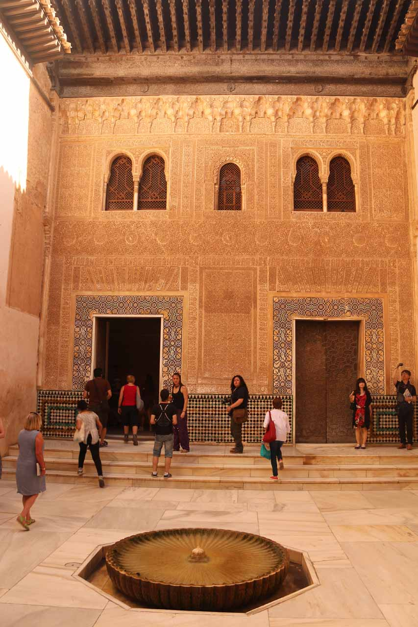 One of the rooms within Palacios Nazaries reminding us very much of some places in Morocco