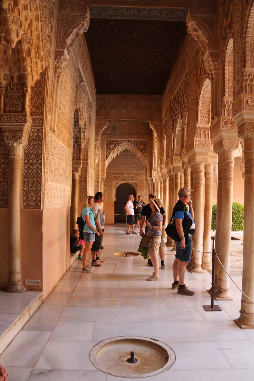 The Patio de los Leones was flanked by walkways with gurgling fountains and tight archways like this one