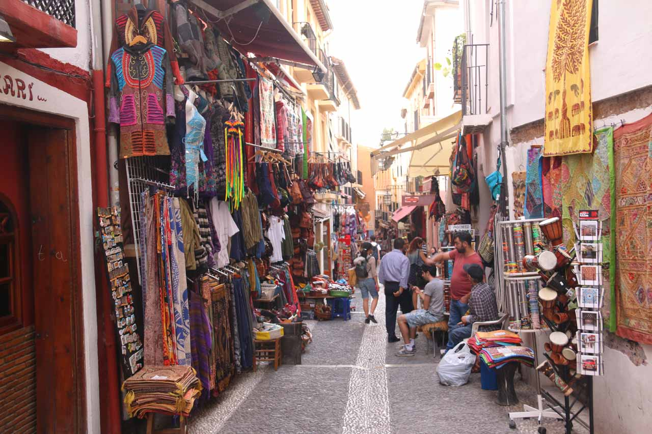 Continuing to weave through the lone block with the authentic Moroccan souks
