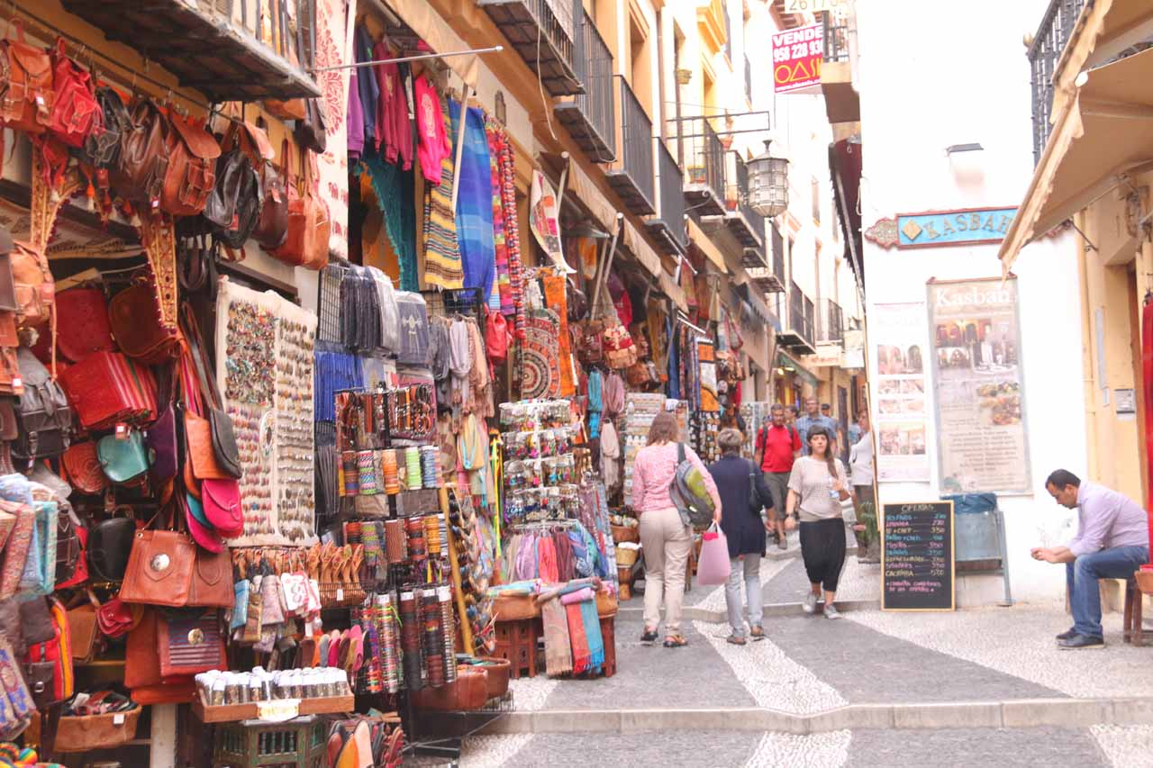 Looking back at the souks of the Albaicin before we attempted to recapture the Moroccan experience in Spain