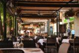 Granada_257_05272015 - Having lunch back at the Plaza de Bib Rambla