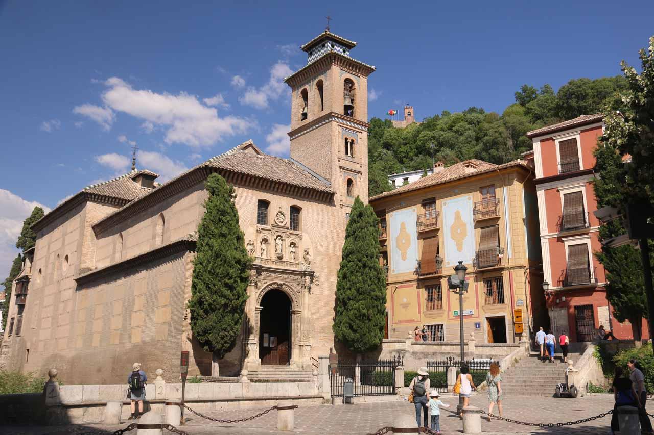 Looking towards the Iglesia de Santa Ana at the Plaza Nuevo again