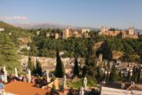Granada_364_05272015 - Wide open panoramic shot of the Alhambra from the terrace of the Estrellas Restaurant