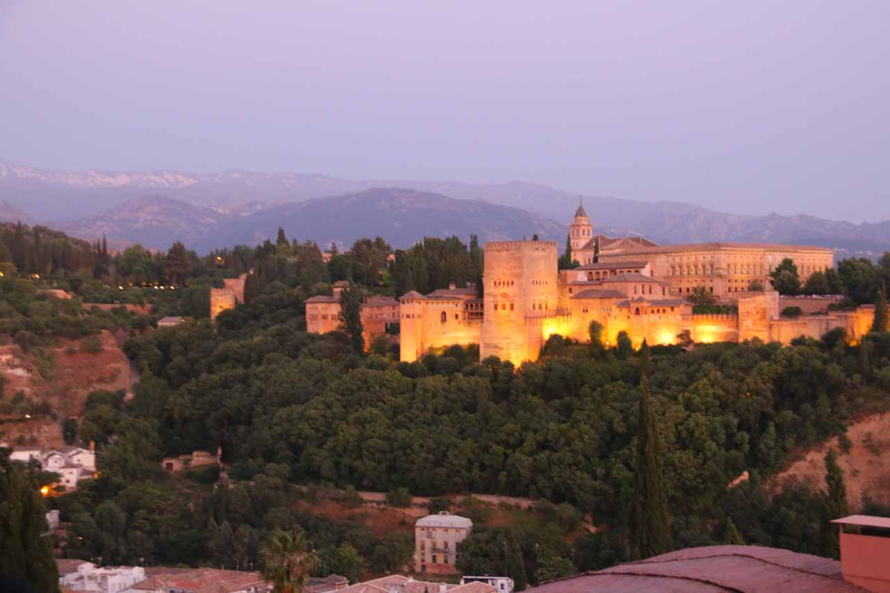 Our last parting shot of the Alhambra from the Mirador de San Nicolas