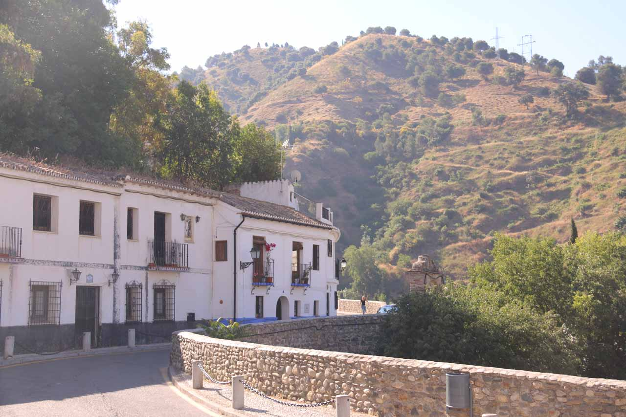 The spot at Sacromonte where we were dropped off by the taxi