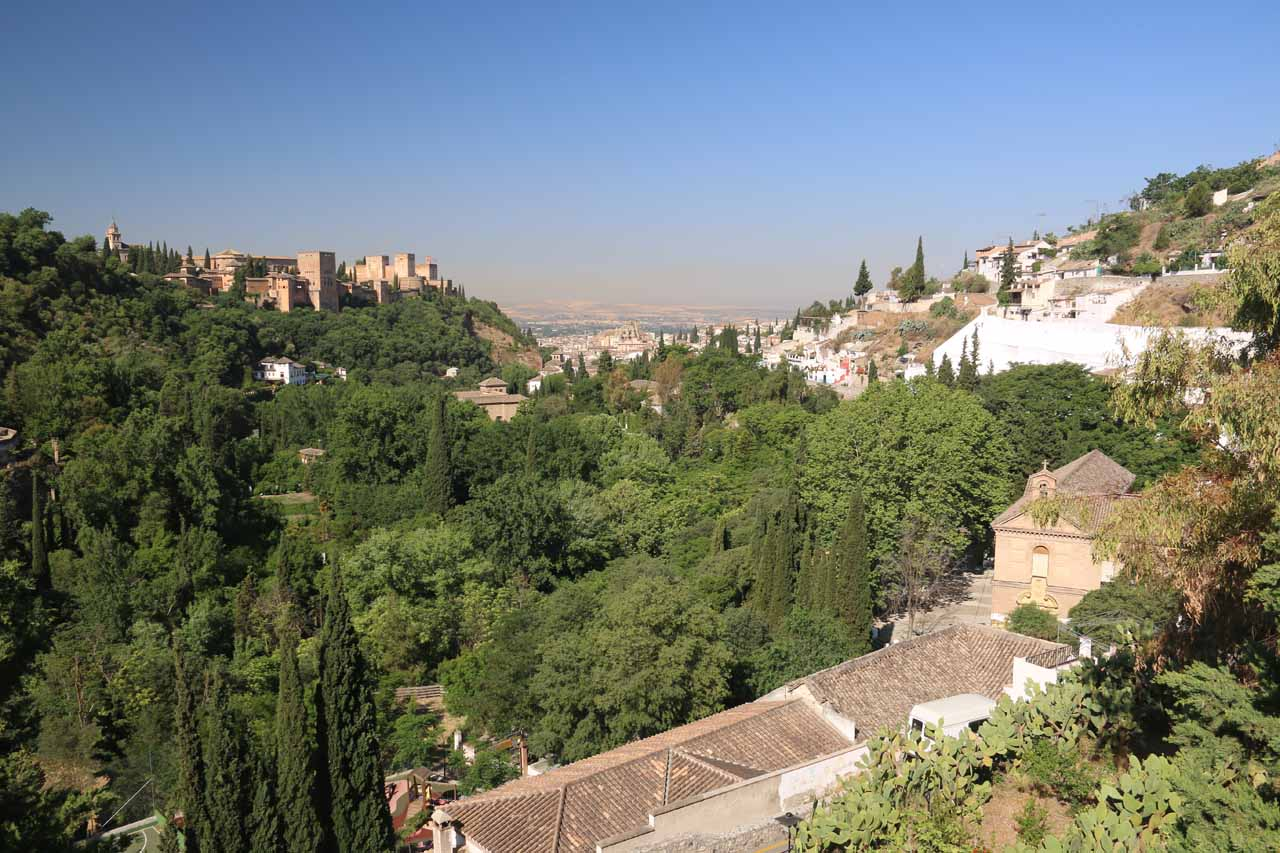 Looking towards Alhambra from higher up the detour to Museum of Caves