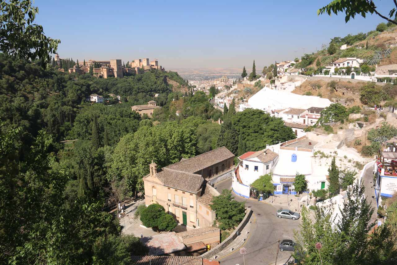 Another look back towards both Sacromonte and Alhambra from higher up the hill