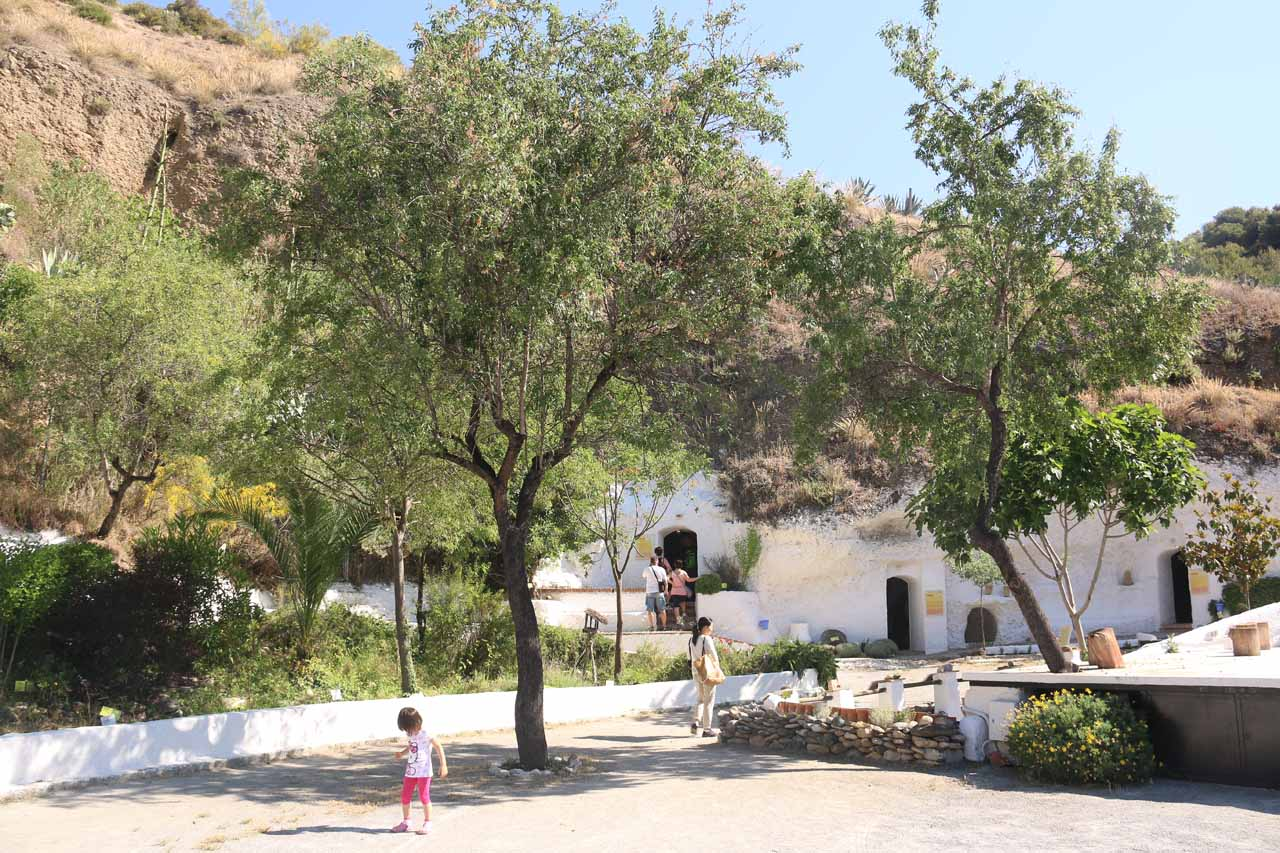Finally within the paid area of the Museum of Caves of Sacromonte