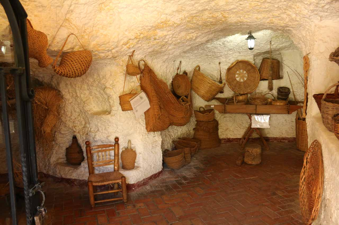 Another one of the first rooms that we took a peek in at Sacromonte