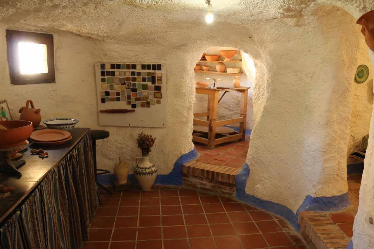A pottery room at Sacromonte