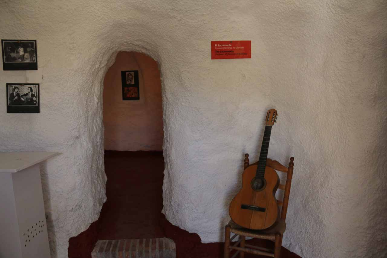 Inside a series of interconnected cave rooms dedicated to the flamenco and its Moorish origins