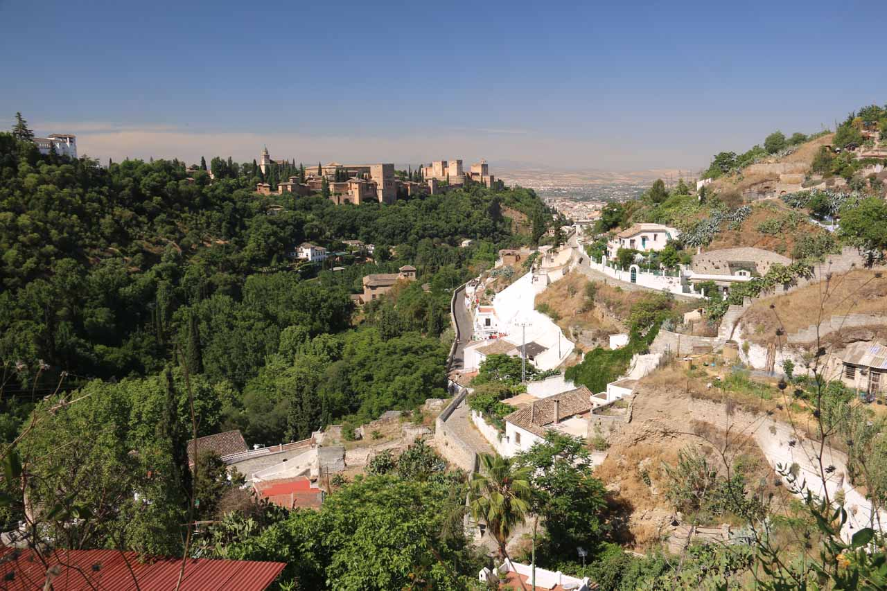 Looking over the rest of the neighborhood of Sacromonte and the Alhambra from the Museum of Caves