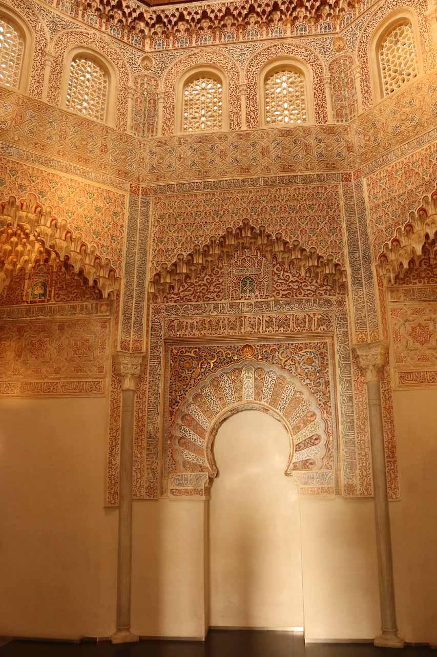 Inside the prayer room of La Madraza