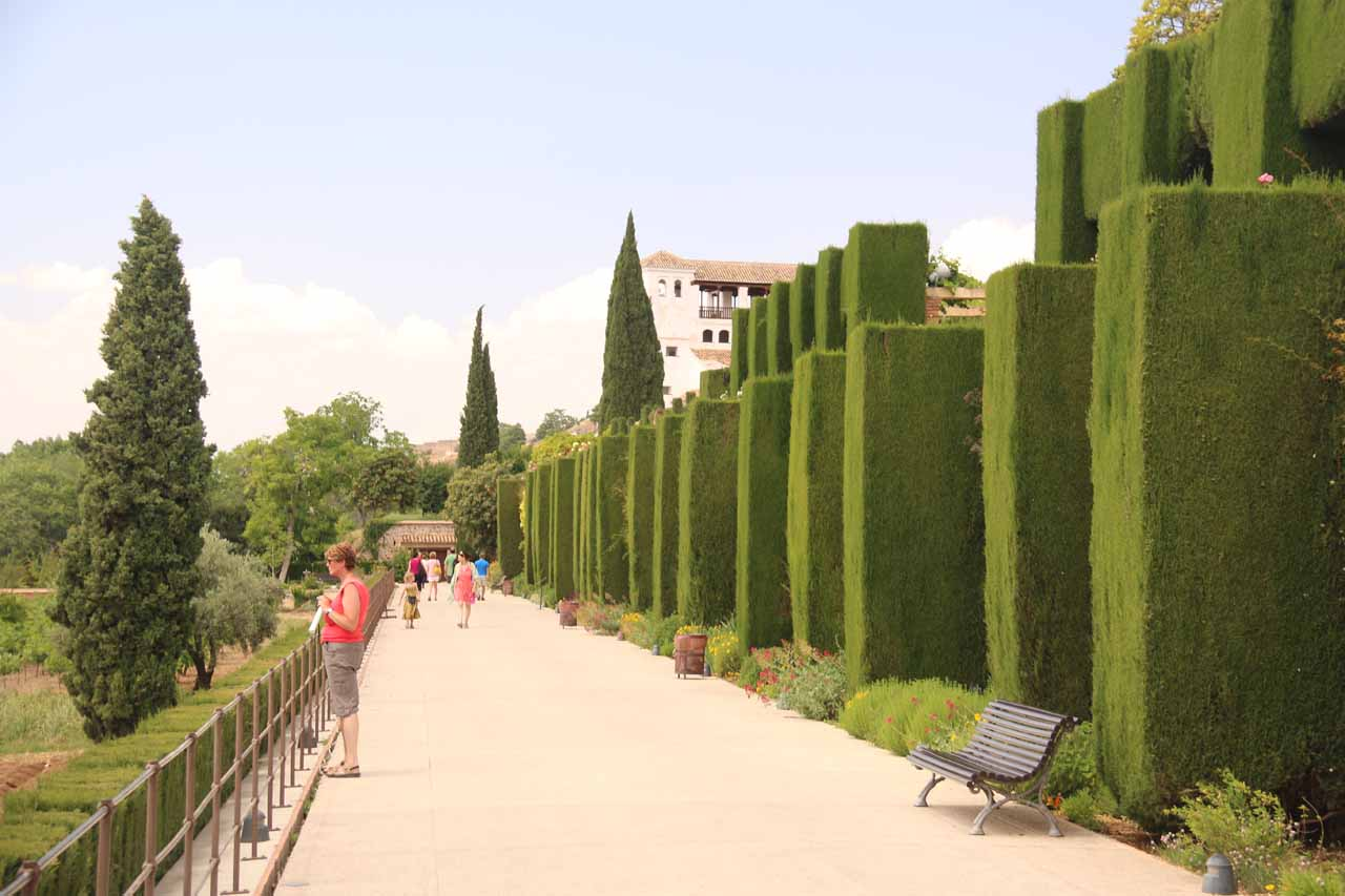 Walking the extensive gardens of the Alhambra as we were approaching the Generalife