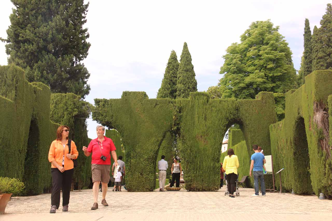 Pretty crazy hedge shapes as we made our way to Generalife