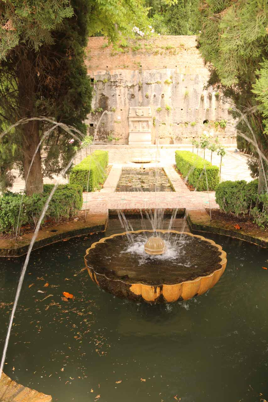 One of many fountains in the gardens of the Generalife