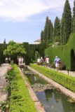 Granada_838_05282015 - Walking alongside an attractive pond within the Generalife Gardens
