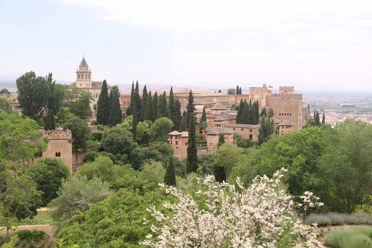 Looking towards the Alhambra from the Palace of the Generalife