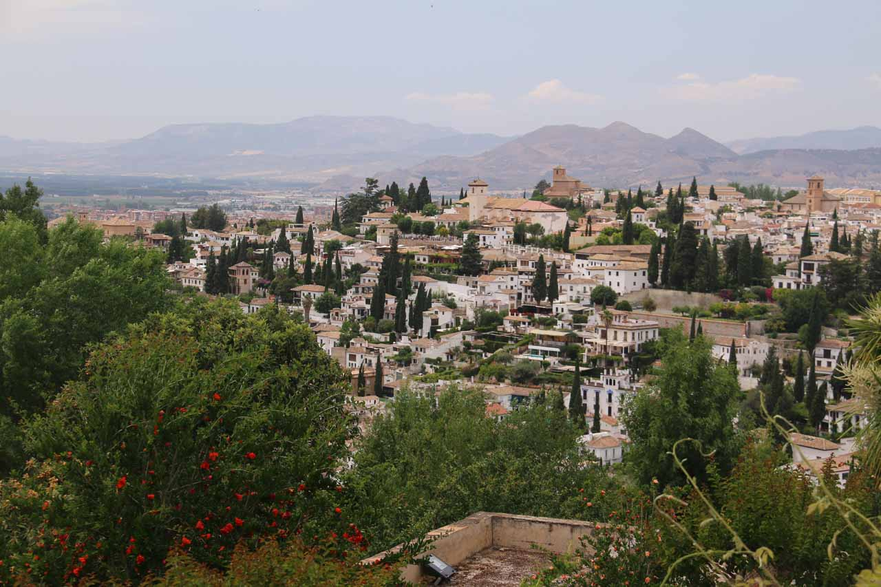 Looking towards the Albayzin neighborhood from the Palace of the Generalife