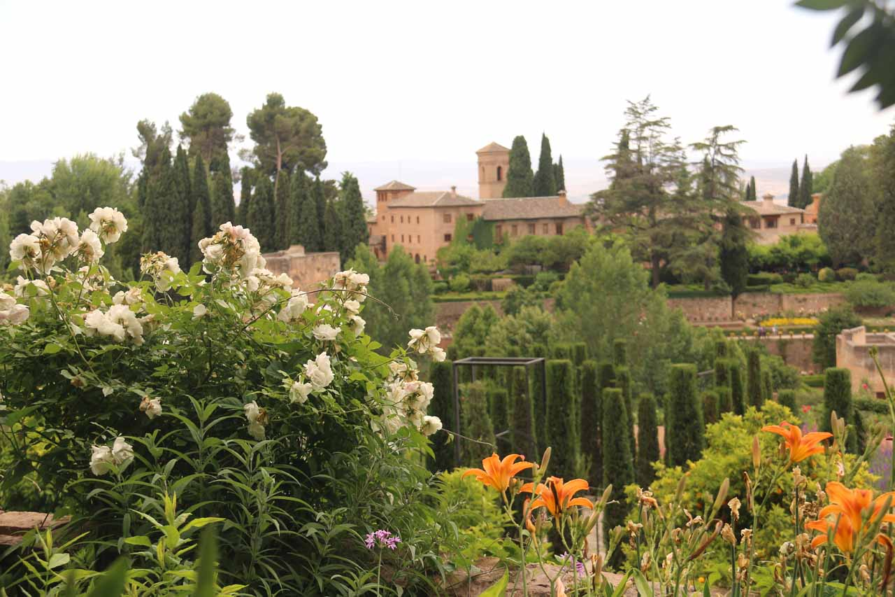 Looking towards the Alhambra from the Generalife gardens