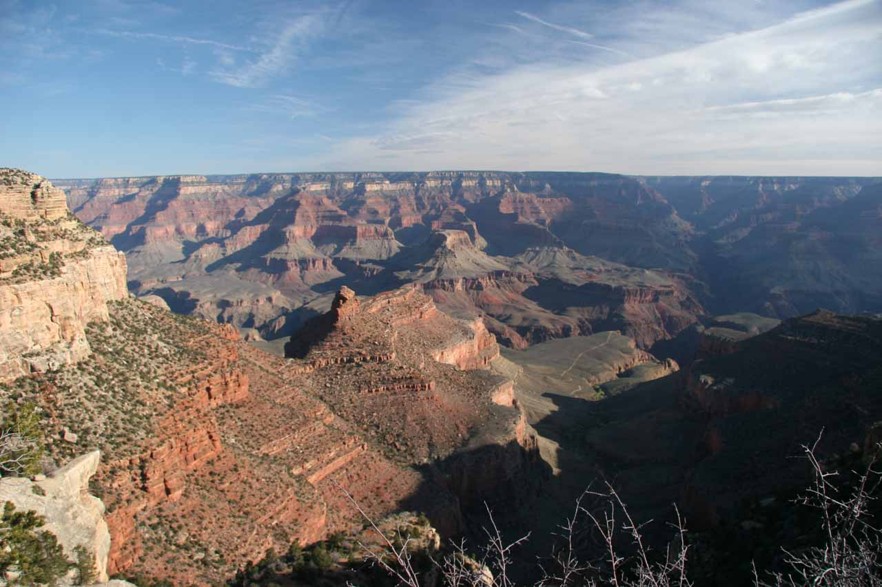 Looking out in a different direction of the South Rim of the Grand Canyon