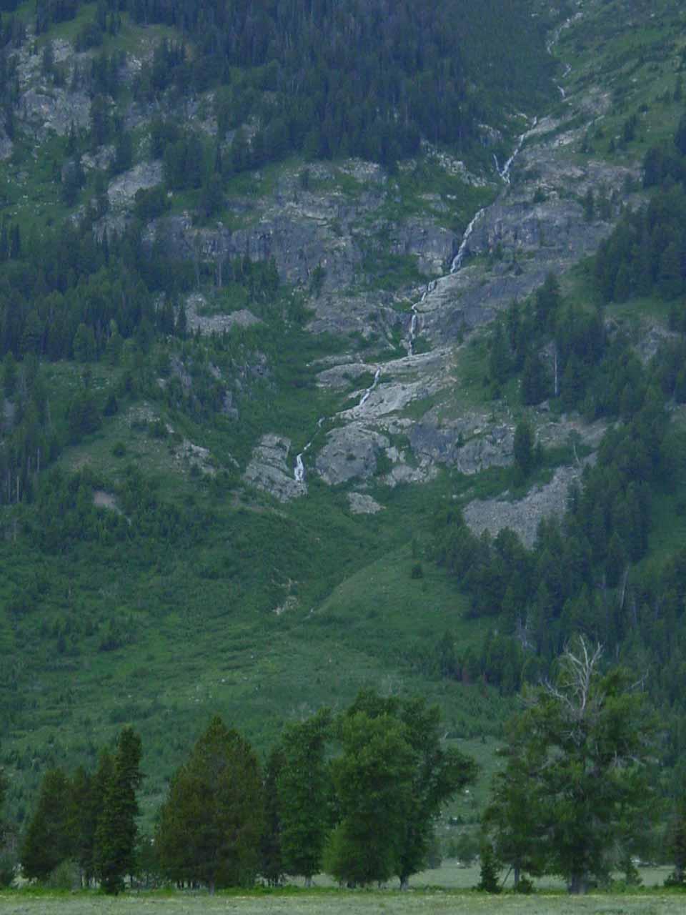 A cascade on the Tetons