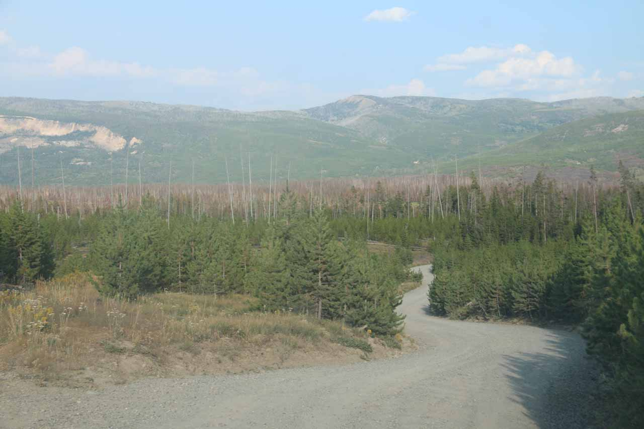 On the home stretch along the Grassy Lake Road as I was headed back to Flagg Ranch to rejoin Julie and Tahia for dinner
