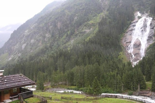 Grawafall_022_07202018 - Context of the Grawa Waterfall and the Grawa Alm as seen on a pretty wet day
