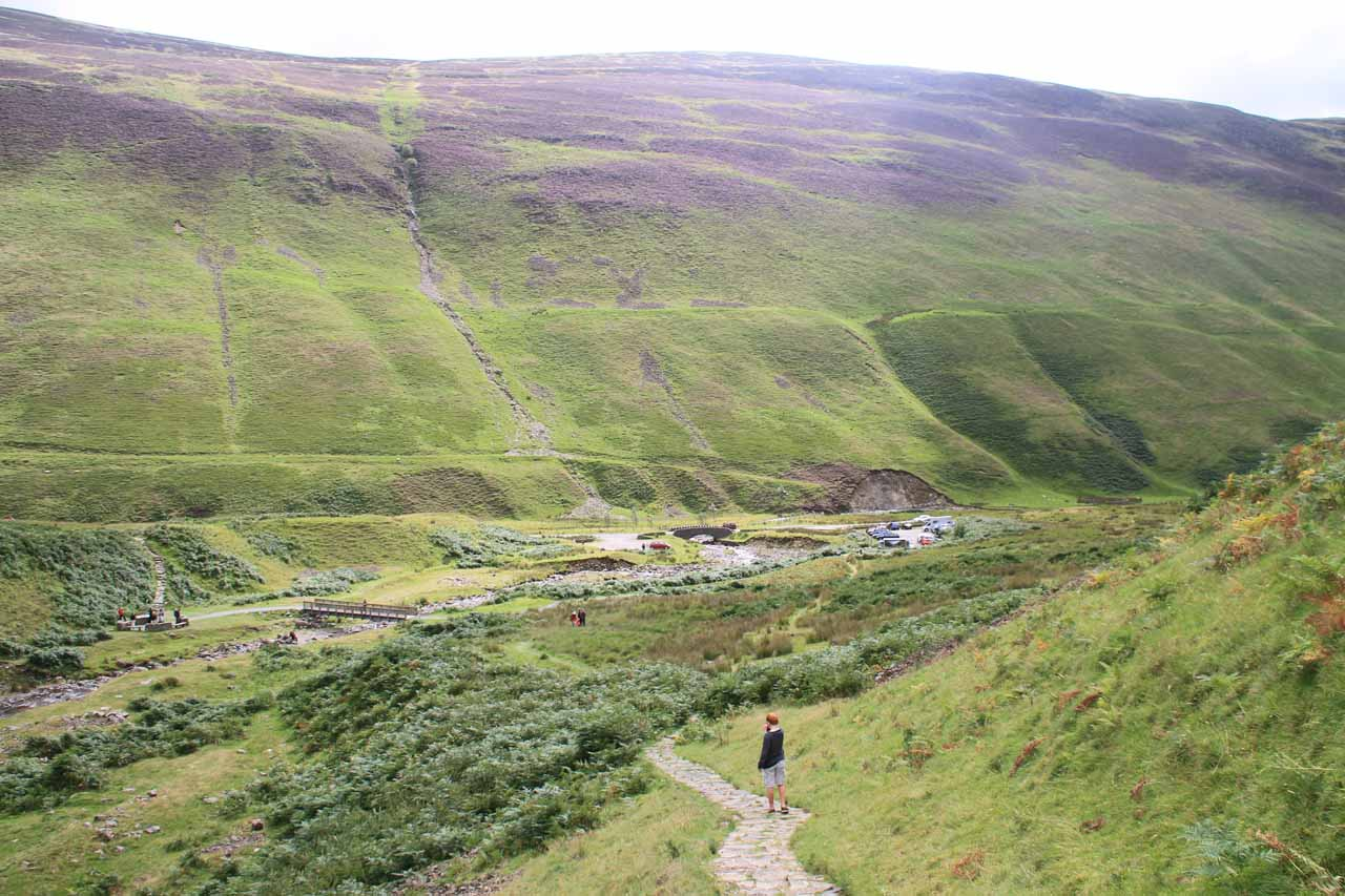 Looking back down towards Moffat Valley and the National Trust Car Park