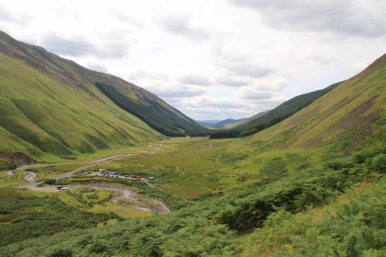 View of Moffat Valley from the Loch Skeen Trail