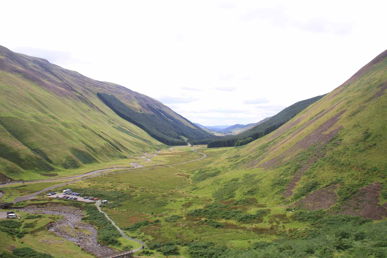From this high up on the trail to Loch Skeen, I was able to look back towards Moffat Valley for views like this
