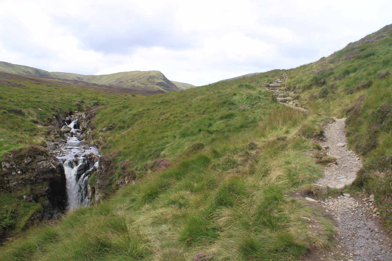 The Loch Skeen Trail now was going past the waterfalls and into the moors
