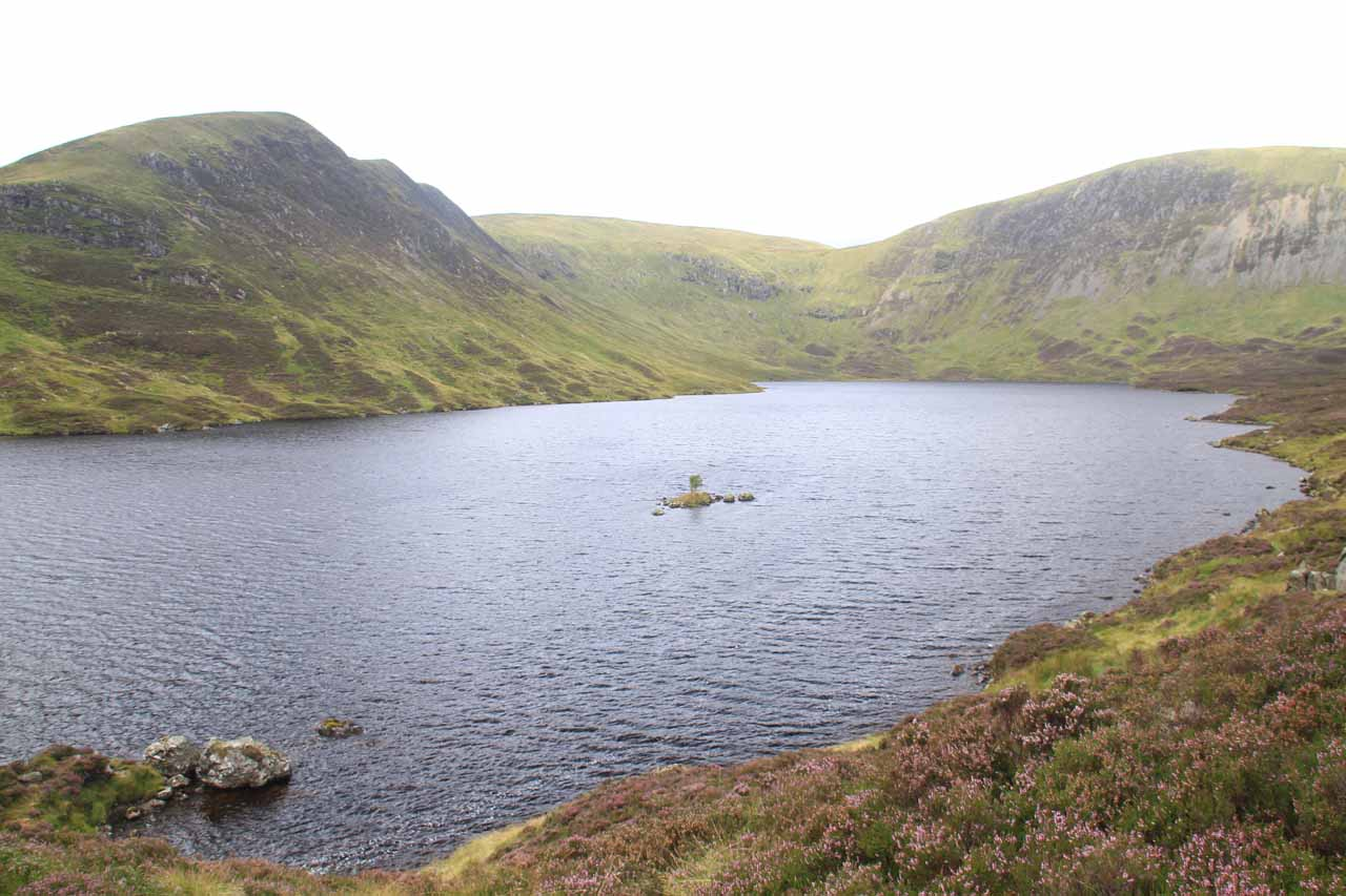 I also did the optional 2.5-mile out-and-back hike to Loch Skeen, which was the lake draining into the Roaring Linn, which would ultimately make its 60m drop as the Gray Mare's Tail