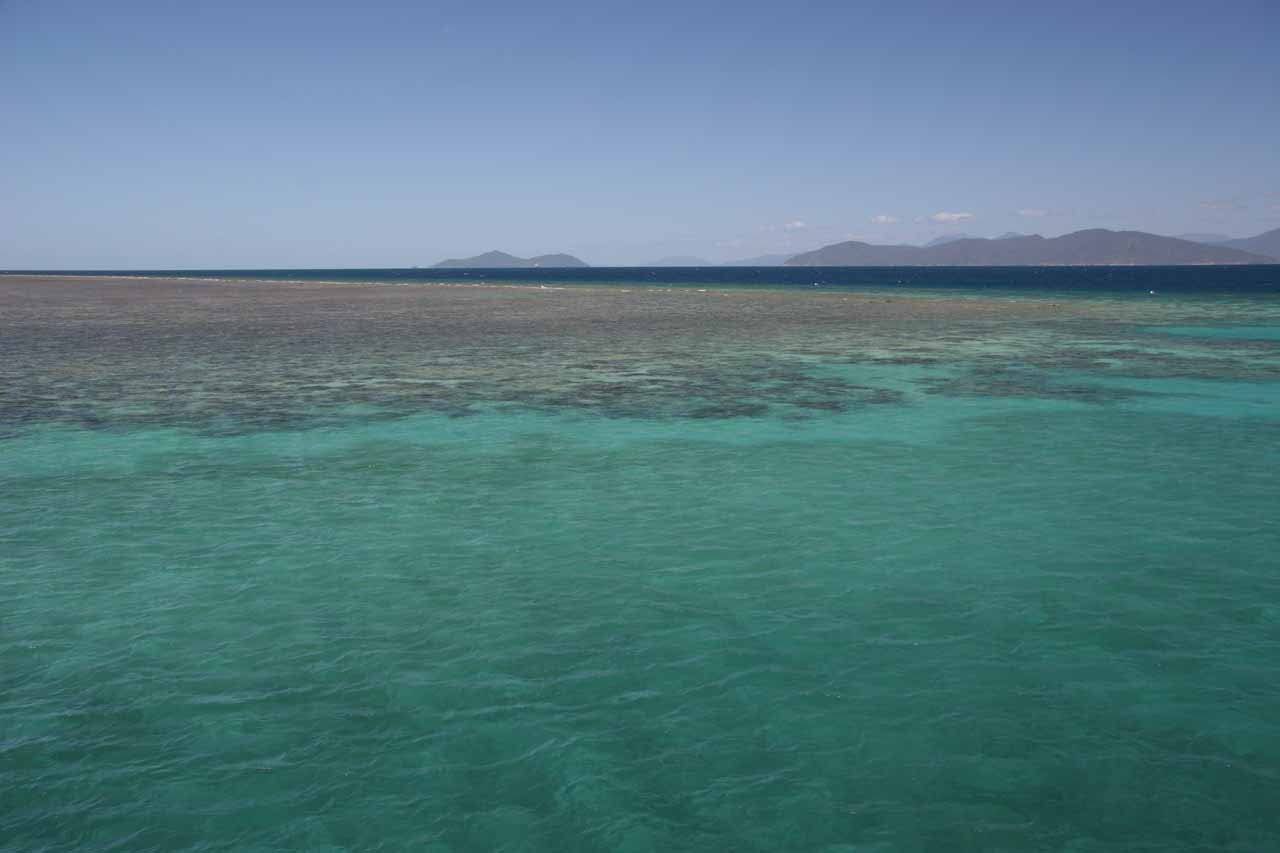 Leaving the reefs around Green Island