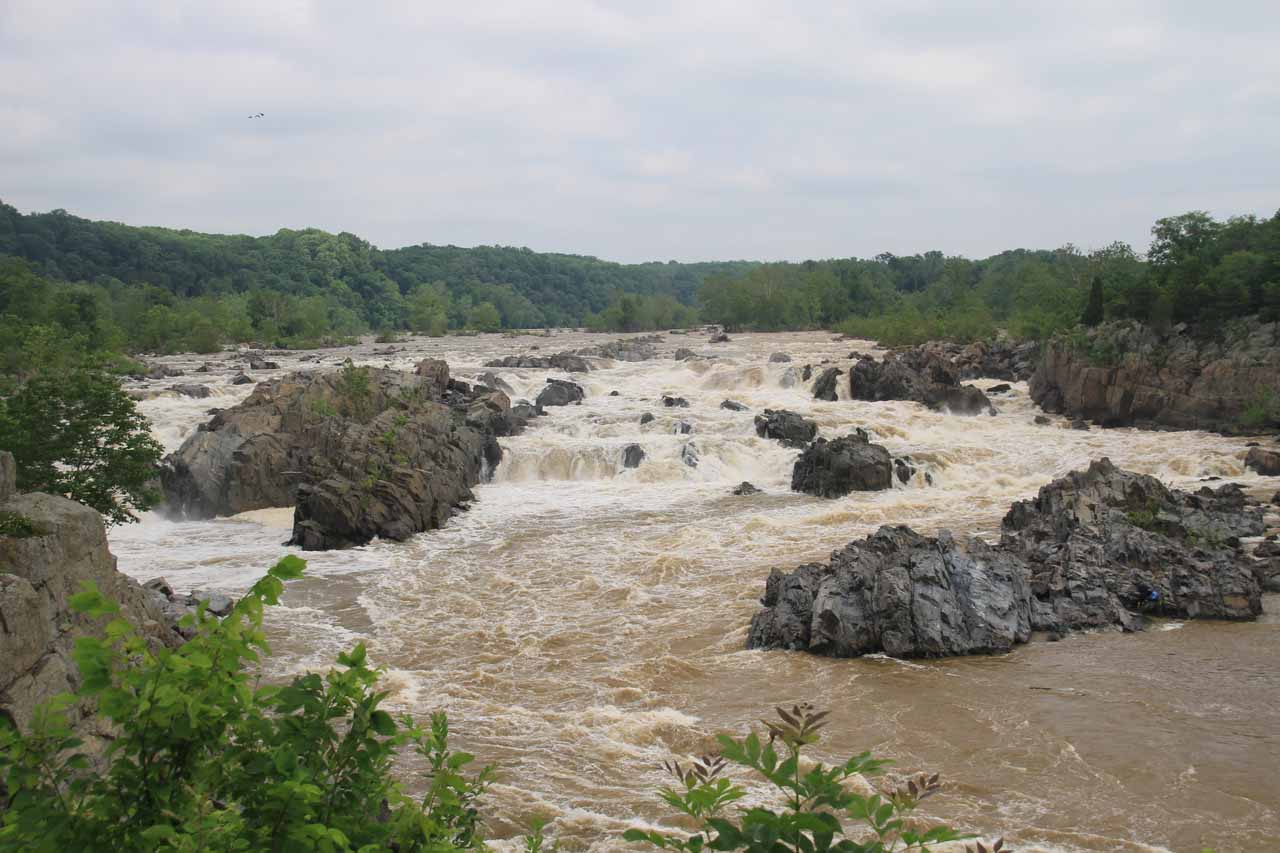 Full contextual view of the Great Falls from Overlook 3