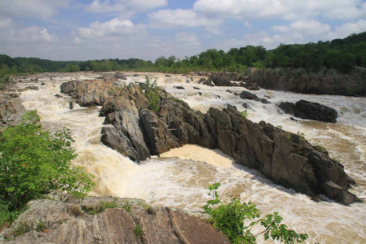 Angled view of Great Falls from Overlook 1
