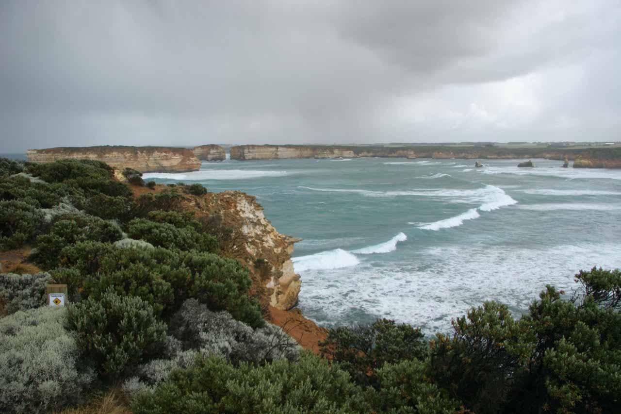 Scenery along the Great Ocean Road