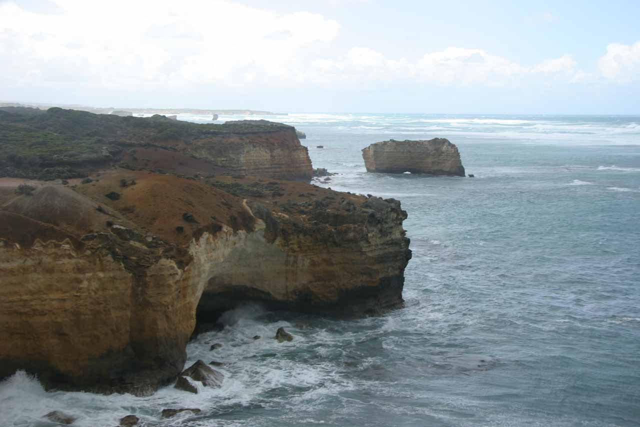 Looked like some submerged arches and grottos