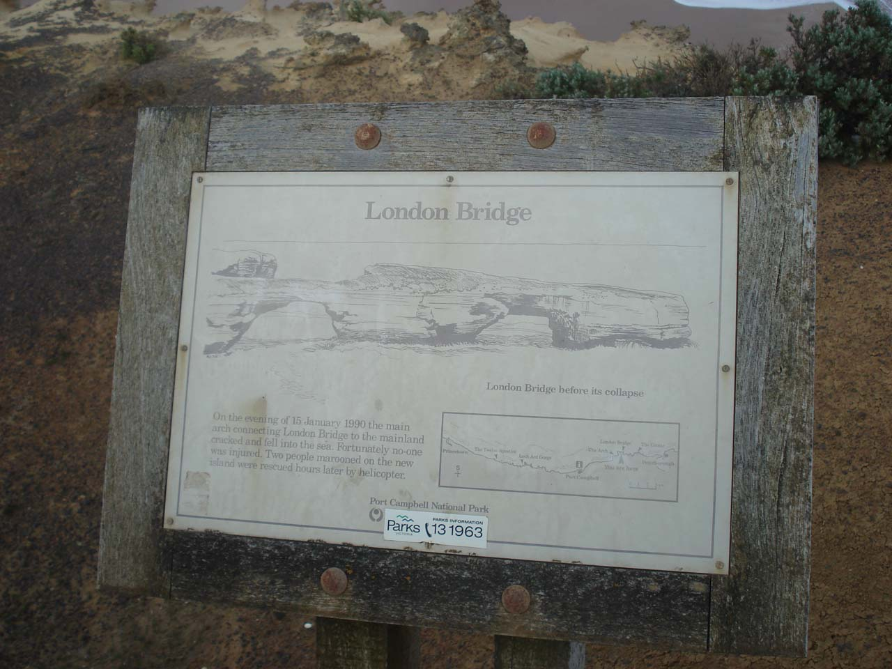 Sign of the London Bridge as it was before