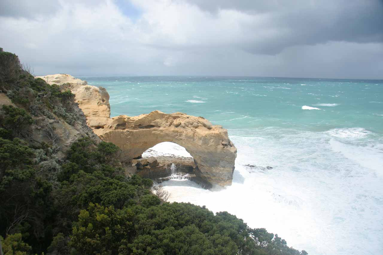 As we drove east of Warnambool towards the Otway Forest (where Beauchamp Falls was located), we followed the Great Ocean Road, where gorgeous coastal scenery and surprise sea arches were common